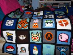 This would be a perfect afghan for the gamer in your life!