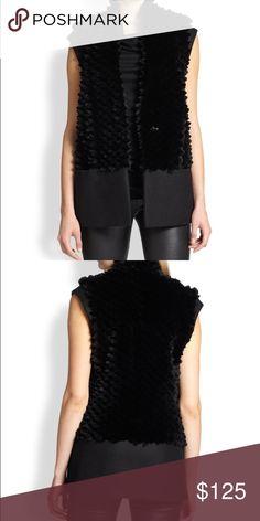 Helmut Lang rabbit fur vest Super soft, super luxe helmut Lang pike rabbit fur vest in black. Two pockets, hook closure. Helmut Lang Jackets & Coats Vests