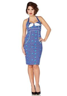 Marcia Little Flower Pencil Dress Women s Blue By Voodoo Vixen 992bf0a6a