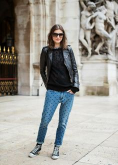 Style on the street: In the spotlight: Isabel Marant polka dot jeans Isabel Marant, Polka Dot Jeans, Polka Dots, Fashion Lookbook, Autumn Fashion, Paris Fashion, Dress To Impress, Trendy Outfits, Summer Outfits