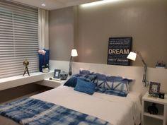 quarto branco e azul -blue's & white  suite ,tie dye