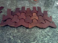 Belegarth medieval combat society- scale armor with scale templates
