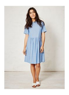 Organic cotton chambray dress