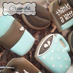 @CrumbsCustomCookies on Instagram - coffee themed sugar cookies