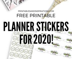 Free Printable Planner Stickers For 2020 - free planner printables, monthly calendars for bullet journal, bujo stickers Printable Planner Pages, Free Printable Calendar, Free Planner, Printable Planner Stickers, Happy Planner, Free Printables, Planner Ideas, Calendar Stickers, Journal Stickers