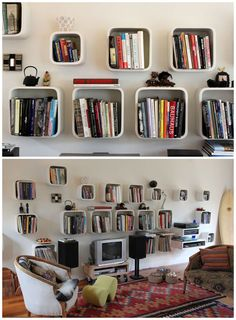 cool and unique bookshelves designs for inspiration | shelves, Mobel ideea