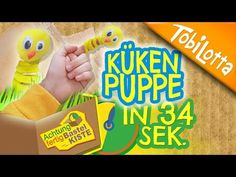 Küken basteln Ostern   Ostern basteln Kinder   Kinderkanal   Fingerpuppe basteln - AFB 26 - YouTube