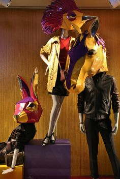 window store display, Coach, NY, August 2014