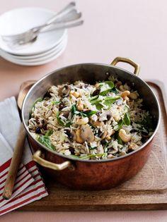 Mushroom and cashew pilaf | The Heart Foundation