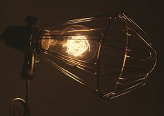 Hay industrial lamp with Edison bulb