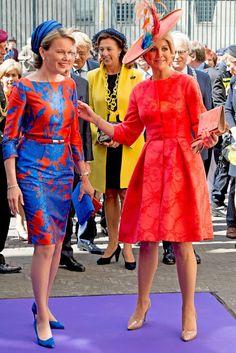 Queen Maxima and Queen Mathilde opens Sculpture Exhibition Vormidable 20 mei 2015