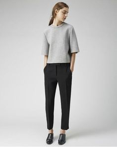 PANTS: Black Cropped Trousers