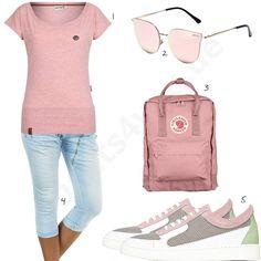 1d043c74d20e Schwarz-Weißer Damen-Style mit Krümelmonster-Shirt   fashion likes    Outfits, Casual outfits und Shirts