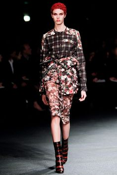 Print on print trend still going strong for fall. Givenchy