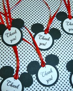 25 Mickey Mouse Thank you tags by EverlastingMoment on Etsy, $12.50
