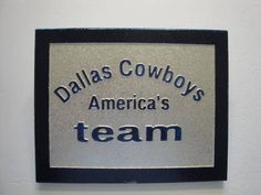 Dallas Cowboys ( America's Team ) custom carved sign, football, nfl football, professional football, cowboys, man cave, shop, routered sign