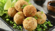 Delicious and tasty these #tuna #croquettes; the flavor of the sea in one bite!