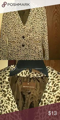 Fenn wright manson cheetah blazer Worn twice great condition Jackets & Coats Blazers