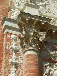 Loggia del Capitaniato, detail - designed by Andrea Palladio in 1565 and built between 1571 and 1572, Vicenza, Italy