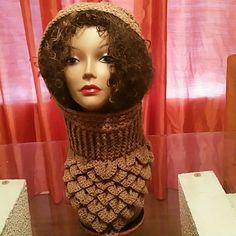 Crocodile handmade crochet hooded neck warmer This awesome handmade hooded neck warmerror so warm, a wonderful accessory to your wardrobe cincare crochet Ministry Accessories Hats