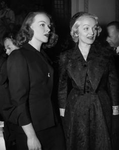 Marlene Dietrich and daughter Maria Riva