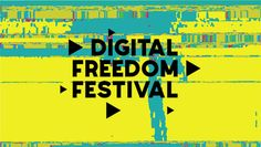 Digital Freedom fesival graphic identity / design concept. Style keywords: hackers, cyber, anolog to digital. We take 1 sec VHS glitch, digitalize it, chop into 30 vizuals, trace them and recolor them. Agency Tribe.