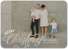 Charming Joy - Glitter Holiday Cards in White or Black | Petite Alma