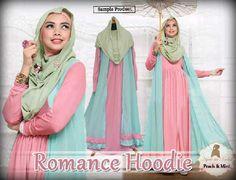 Gamis Hoodie Romance,  baju hoodie, busana muslim modern, butik busana muslim, Gamis Hoodie, grosir baju muslim murah