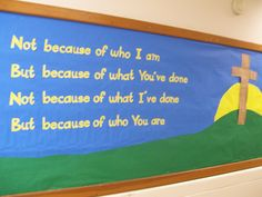 Easter Board | AWESOME BULLETIN BOARDS | Pinterest