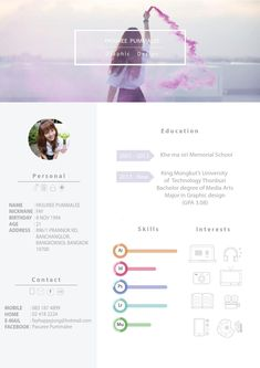 Resume pasuree If you like this cv template. Check others on my CV template board :) Thanks for sharing! Graphic Design Cv, Graphisches Design, Web Design Trends, Resume Design, Blog Design, Portfolio Resume, Portfolio Book, Portfolio Layout, Portfolio Website