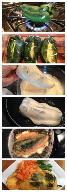 Chiles Rellenos Recipe process