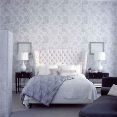 20 Chic Wallpaper Ideas For Stylish Bedroom Design Wallpaper Design For Bedroom, Chic Wallpaper, Wallpaper Ideas, Wallpaper Designs, Wallpaper Wallpapers, Stylish Bedroom, Modern Bedroom, White Bedrooms, Home Bedroom