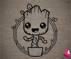 dancing groot vinyl decal sticker free shipping by Stickrz on Etsy