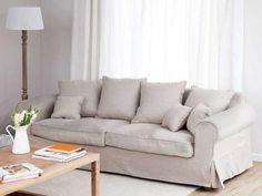 funda sofa - Una funda para el sofá - Reciclar muebles - Decoracion facil - Ideas para ganar espacio, decoracion facil, reciclaje de muebles - CASADIEZ.ES