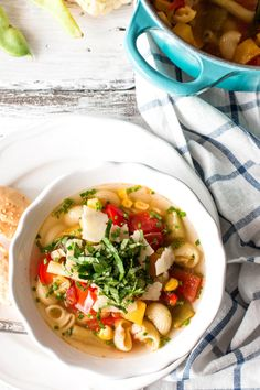 end of summer minestrone + 4 other delicious recipes in this weekly meal plan   Rainbow Delicious