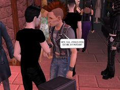 RUDY: Hey, D.K., could you do me a favour?  #gothic #sims #webcomic #punkrock #jam #goths #nightlife #courtleymanor