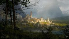 fantasy medieval port city - Google Search