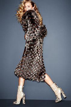 Michael Kors coat, price upon request, thefursalon.com; Gucci boots, $1,595, gucci.com. - HarpersBAZAAR.com