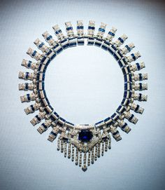 Collier Cartier en saphirs de Marjorie Merriweather Post