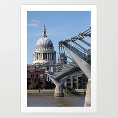 St Paul's and the Millennium Bridge Art Print by Dawn OConnor - $19.76