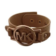 Michael Kors Leather Logo Beige Accessories Outlet