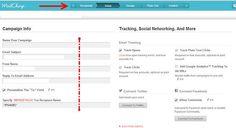 Ejemplo de psicología de la memoria en el diseño web y experiencia de usuario de Mailchimp