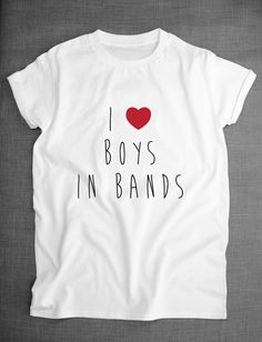 I Love Boys In Bands Girls Womens T-Shirt by ResilienceStreetwear