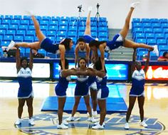 My favorite stunt yet! Mostly because I'm one of the flyers! My favorite stunt yet! Mostly because I'm one of the flyers! Easy Cheer Stunts, Cheer Moves, Cheer Jumps, Cheer Routines, Youth Cheer, Cheerleading Cheers, Football Cheer, Cheer Coaches, Cheer Pyramids