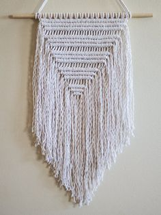 Triangle Macrame Wall Hanging by Parlor on Etsy