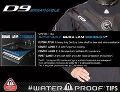 Waterproof D9 Breathable Quad-Lam Cordura