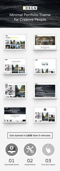 iDsgn - Minimal Portfolio Theme for Creative People • Download theme ➝…