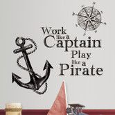 Found it at Wayfair.co.uk - Work Like a Pirate Wall Stickers