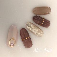 Classy Acrylic Nails, Classy Nail Art, Cool Nail Art, Silver Nails, Brown Nails, Glitter Nails, Funky Nails, Love Nails, My Nails