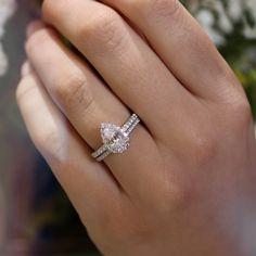 Classic Pear Diamond Engagement Ring
